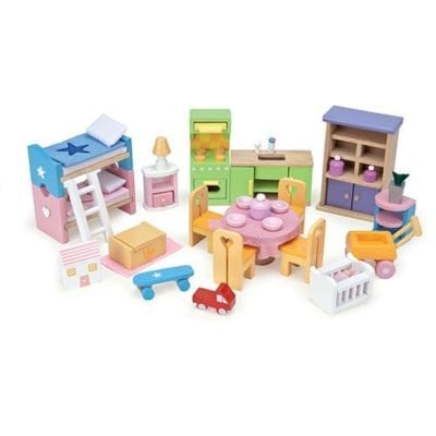 starter furniture set scaled for Le Toy Van doll houses