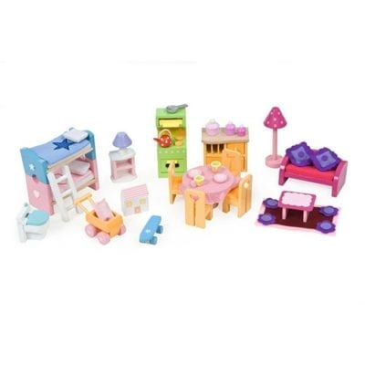 Doll House Deluxe Furniture Set