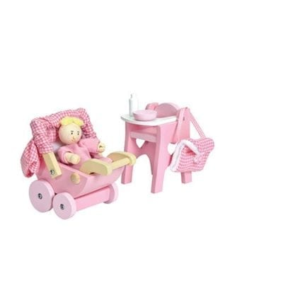 pink Doll House Nursery Set