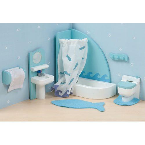 blue Sugar Plum Bathroom for doll house