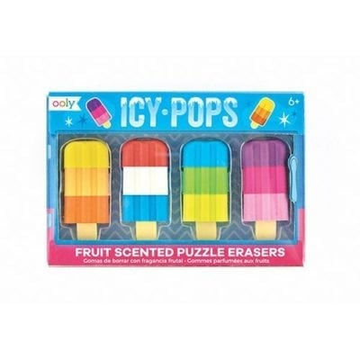 ooly Icy Pops Scented Puzzle Erasers
