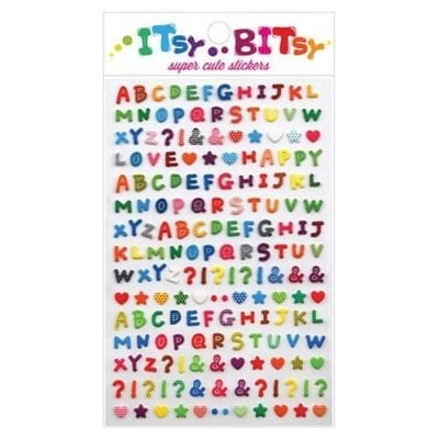 ooly Itsy Bitsy Pattern Alphabet Stickers