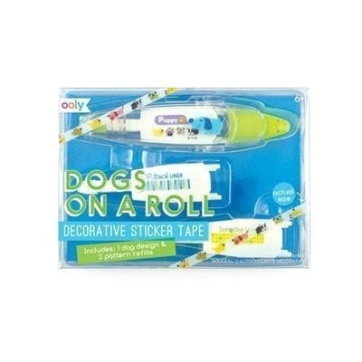 ooly Dogs On A Roll Decorative Sticker Tape