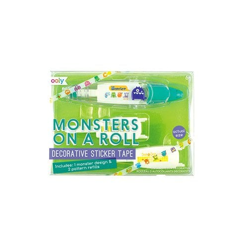 ooly Monsters On A Roll Decorative Sticker Tape
