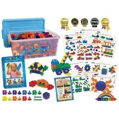 Morphun junior starter rainbow 900 piece set content