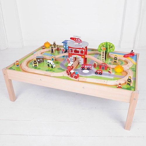 Big Jigs Fire Station Train Set And Table The Wooden