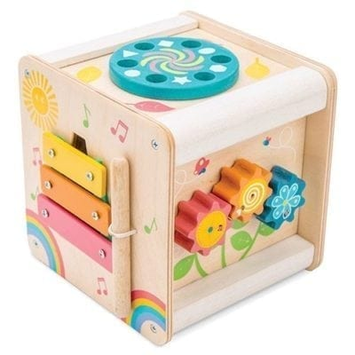 Activity cube for babies in bright colours