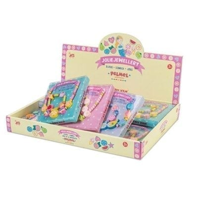 box displaying jollie jewellery for kids